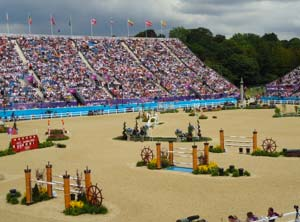 The Show jumping course was fantastic with real London heritage in every fence