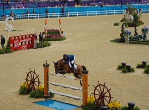 Scott Brash riding Hello Sanctos, Olympic Team Gold Medalist 2012